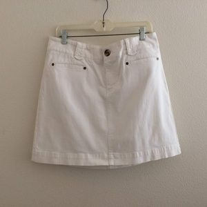 White House Black Market White Denim Jeans Skirt